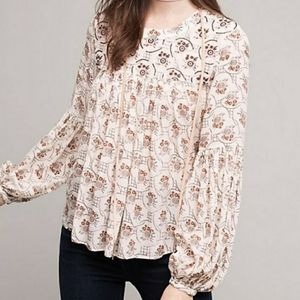Anthropologie Floreat Sala Beaded Top Size 8P